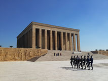 Mustafa Kemal Ataturk mausoleum in Ankara Turkey. Turkey republic's founder Ataturk's tomb called anitkabir in turkey ankara Stock Photo