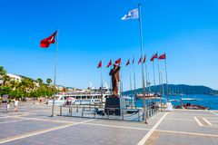 Mustafa Kemal Ataturk monument, Marmaris Royalty Free Stock Photo