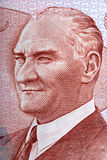 Mustafa Kemal Ataturk portrait from Turkish money Royalty Free Stock Photography