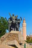 Mustafa Kemal Ataturk statue in Antalya Turkey Stock Photos
