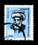 Mustafa Naima (1655-1716), historiker, personlighetsserie, circa royaltyfri bild