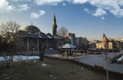 The Mustafa Pasha Mosque in Turkey royalty free stock images