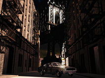 Mustang 1967 em Manhattan ilustração royalty free