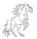 Mustang royaltyfri illustrationer