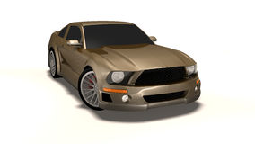 Mustang 3d car Royalty Free Stock Photography