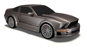 Mustang 3d car Royalty Free Stock Images
