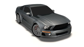 Mustang 3d car Royalty Free Stock Photos