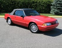 Mustang. Picture of my 1992 Ford Mustang LX Convertible royalty free stock photography