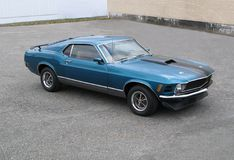 Mustang. Picture of the 1970 Ford Mustang Mach1 stock photo