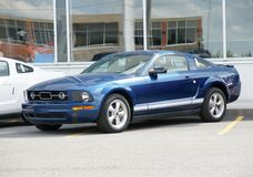 Mustang. Picture of the brand new 2008 Mustang at the dealership royalty free stock image