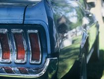 Mustang. 1967 Mustang tale end of car Royalty Free Stock Image