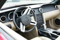 Mustang-Armaturenbrett Stockfoto