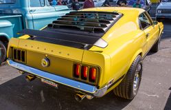 1970 Mustang Boss 302. CONCORD, NC - September 22, 2017: A 1970 Ford Mustang Boss 302 on display at the Pennzoil AutoFair Classic Car Show at Charlotte Motor royalty free stock photo