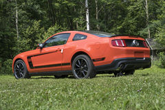 Mustang boss 302. Concours délégance chambly 18-19 july 2015. Picture of modern mustang boss 302 during car show stock images