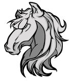 Mustang / Bronco Mascot Logo Royalty Free Stock Photos
