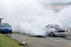 Mustang Burnout Lizenzfreies Stockbild