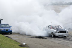 Mustang burnout Royalty Free Stock Image