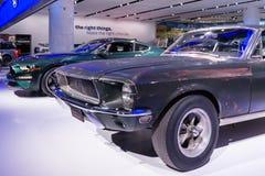 Mustang 1968 conduzido por Steve McQueen no ` de Bullitt do ` do filme Imagens de Stock Royalty Free
