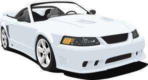 Mustang Convertible Sports Car. An illustration of a convertible Mustang Sports Car isolated on white. Saved in labeled layers for easy editing vector illustration