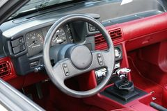 Mustang Dashboard. Picture of the 1987 Ford Mustang dashboard royalty free stock photography