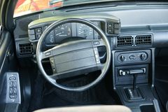 Mustang Dashboard. Picture of the 1987-1993 mustang dashboard Stock Images