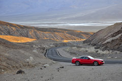 Mustang on Death Valley. Image of a Ford Mustang Convertible on the Death Valley National Park, California, USA Stock Photography
