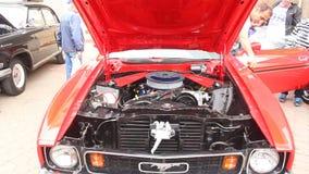Mustang di Ford - motore Fotografia Stock Libera da Diritti