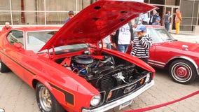 Mustang di Ford - motore Fotografie Stock Libere da Diritti