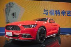 mustang 2014 do baixio do autoshow de beijing imagens de stock