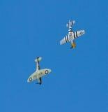 Mustang e Spitfire Fotografia de Stock
