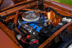Mustang 302 engine. Beautiful mustang american muscle car 302 engine, 5.0L fully renovated stock photography