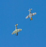 Mustang et Spitfire Photographie stock