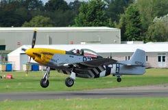 Mustang fighter landing Stock Photos