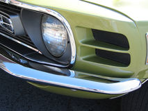 Mustang front end. Close up of my 1970 Mustang Mach1 front end stock images