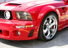 Mustang Front End. Picture of the 2006 modified mustang front end royalty free stock photography