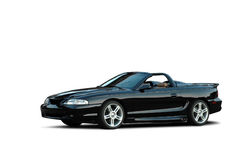 Mustang Gt convertible. A 1997 Mustang Gt convertible isolated on a white background. Clipping path on vehicle. See my portfolio for more automotive images stock photos
