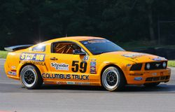 Mustang GT race Stock Images