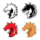 Mustang head mascot Royalty Free Stock Image
