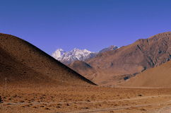 Mustang, the hidden kingdom, Nepal. The hiking route in the Himalayan city of Mustang, Nepal Royalty Free Stock Images