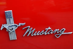MUSTANG LOGO ON CAR Royalty Free Stock Images