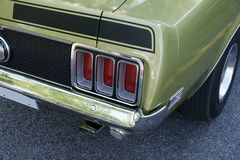 Mustang Mach1 Rear End. Picture of the 1970 Mustang Mach1 rear end stock photography