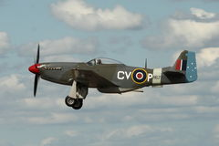 Mustang P-51 em voo Fotografia de Stock