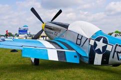 Mustang P-51 sur le pique-nique 2016 d'air de Leszno Image libre de droits