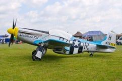 Mustang P-51 sur le pique-nique 2016 d'air de Leszno Photo libre de droits