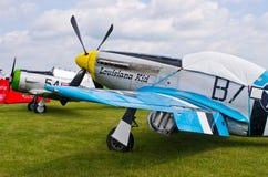 Mustang P-51 sur le pique-nique 2016 d'air de Leszno Photos stock