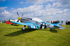 Mustang P-51 sur le pique-nique 2016 d'air de Leszno Photo stock
