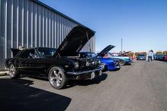 Mustang più il Car Show 2014 dello stockton Ca Fotografie Stock