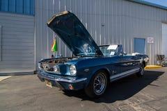 Mustang più il Car Show 2014 dello stockton Ca Fotografie Stock Libere da Diritti