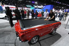 Mustang or pool?. Chicago auto show February 2011 Royalty Free Stock Photo