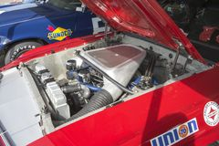 Mustang race car engine Royalty Free Stock Images